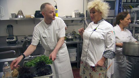 Chef Anne Burrell on Chef Wanted at Barcara Resort and Spa