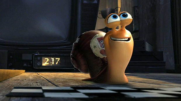Ryan Reynolds provides the voice of Turbo, a little snail with big dreams of racing in the Indy 500.