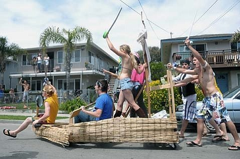 Students party hardy on Del Playa Drive in 2010