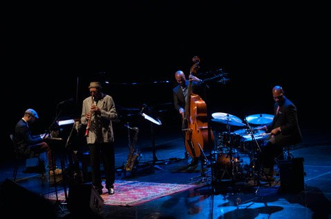 <b>MILES AHEAD:</b>  Santa Barbara's own Charles Lloyd, seen here with his piano quartet, was honored at the Montreal International Jazz Festival this year with the Miles Davis Award for his lifetime contribution to jazz.