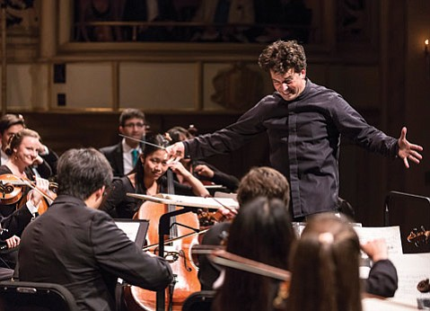 <b>ALL TOGETHER NOW:</b>  Maestro James Gaffigan brought out the best in the Academy Fellows during their final orchestral concert of the season.