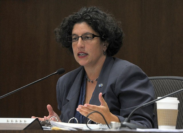 """<b>ROUNDABOUT:</b>  Mayor Helene Schneider says keeping Montecito's left-lane exit ramps is back """"on the table"""" as a result of her meeting with Caltrans execs."""