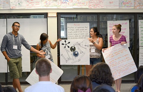<b>GOING WILDE:</b>  San Marcos High School students say there should be more LGBTQ representation in their English reading curriculum.