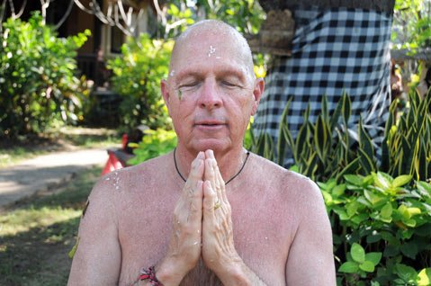 """<b>A QUIET MIND:</b> """"I had always thought meditation was the province of people who lived in foreign countries … who had lots of time on their hands,"""" wrote Dr. Hosea. After a trip to Bali, however, daily meditation became part of his routine."""