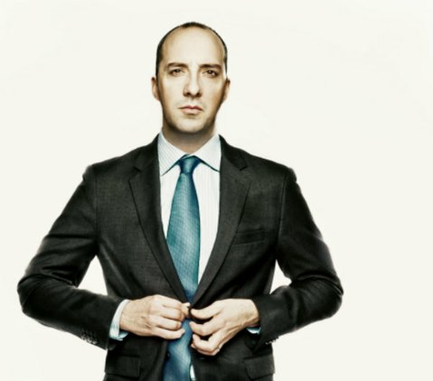 IT'S IN THE BAG: Tony Hale stars as the bagman to Julia Louis-Dreyfus' U.S. Vice President on HBO's <em>Veep</em>.