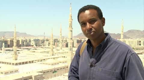 Rageh Omaar retraces the footsteps of the prophet in the PBS series <em>Life of Muhammad</em>.