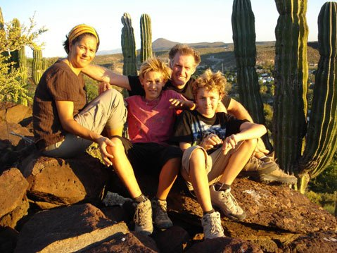 Ciska, Michael, Sammy and Jesse in 2008, the year they began their epic bike journey. (photo curtesy of the Verhage family)