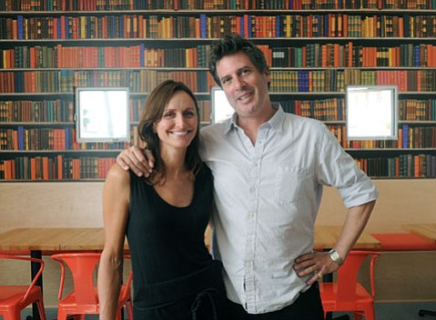 Book Ends Café owners Carmen Deforest and Dominic Shiach.