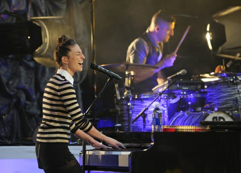 Sara Bareilles opens for OneRepublic at the Santa Barbara Bowl