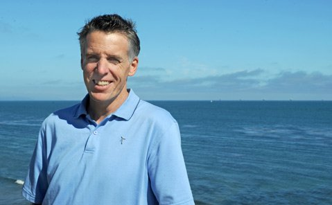 "<b>BLOW POWER:</b> John Reed, who dreams of 103 wind turbines harvesting energy in the Santa Barbara Channel, has formed an organization called <a href=""http://channelwind.org"">channelwind.org</a>."