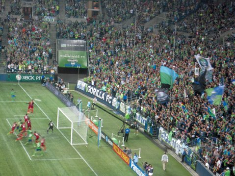 <b>SOUNDING OFF:</b> Seattle folks take their professional sports team very seriously. At the Sounders-Real Salt Lake soccer match, more than 50,000 fans showed up to root for the home team.