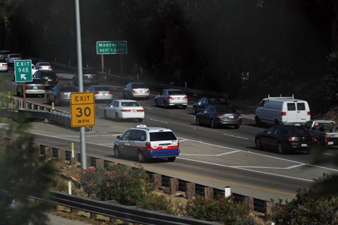 <b>SNUG AS A BUG:</b> California drivers have been waiting since 1989 for the traffi c on the highway through Santa Barbara to ease up.