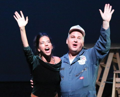 <b>REACH FOR THE STARS:</b> Erica S. Connell and Joe Andrieu star in DramaDogs' production of Jane Anderson's Defying Gravity.