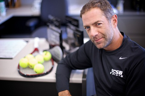A story in the <em> New York Times</em> revealed that Simon Thibodeau, the second-year coach of UCSB's women's tennis team, is gay.
