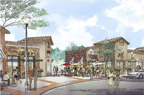 Artist rendering of Hollister Village