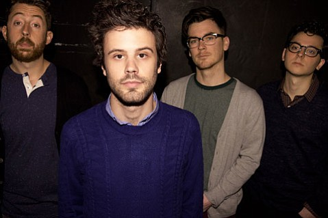 <b>SLEEPYHEADS:</b>  Passion Pit is (from left) Jeff Apruzzese, Michael Angelakos, Nate Donmoyer, Ian Hultquist, and Xander Singh (not pictured). The band brings its euphoric synth pop to the Santa Barbara Bowl on October 26.