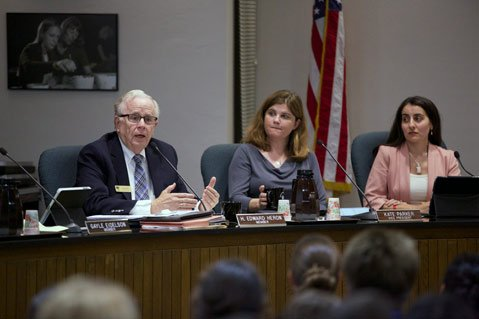 <b>CAUTIOUS BUT HOPEFUL:</b>  School District Boardmember Ed Heron said he'd like to see the Charter School renewed as long as administrators address a number of concerns voiced by district staff.