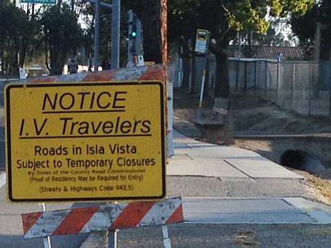 Some roads and parking lots in and around Isla Vista will close for Halloween.