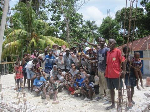 <b>BAIE DUHAMEL:</b> Emilie Newton helped villagers build a school.