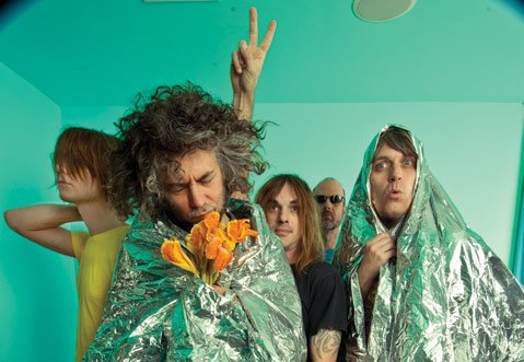 <b>PSYCH-OUT:</b>  The Flaming Lips (from left: Derek Brown, Wayne Coyne, Kliph Scurlock, Michael Ivins, and Steven Drozd) bring their surreal rock 'n' roll spectacular to the Santa Barbara Bowl as part of the venue's first-ever Día de los Muertos Celebration.