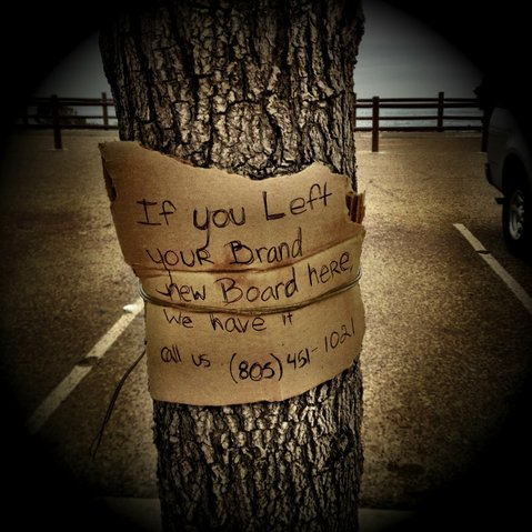 Erin Nicole Smith left this note on a Ventura Beach tree over two years ago, but it was picked up this week by an online aggregator and is now all over the web