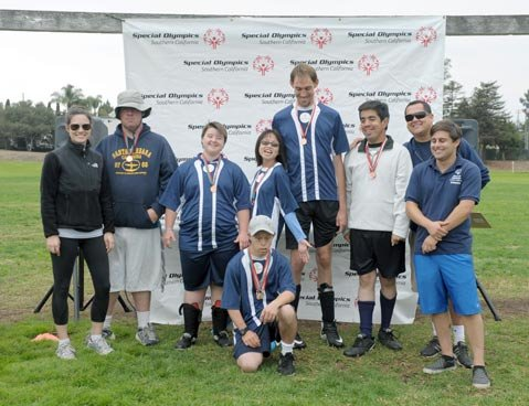 <b>GO TEAM!</b> Santa Barbara United soccer players were all smiles after the Special Olympics Tournament.
