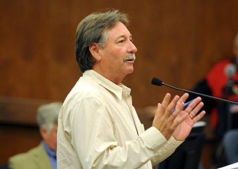Chris Dahlstrom speaks before the County Board of Supervisors (Nov. 5, 2013)