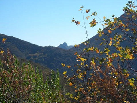 Cathedral Peak seen from Camino Cielo.