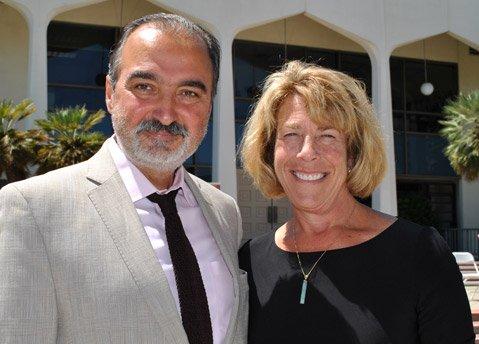 Professor Manou Eskandari with SBCC President Lori Gaskin