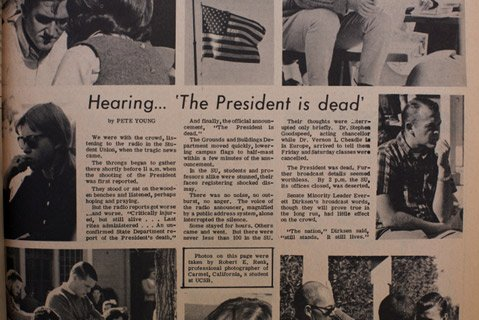 UCSB's student paper scrambled to portray the mood on campus the day President Kennedy died.