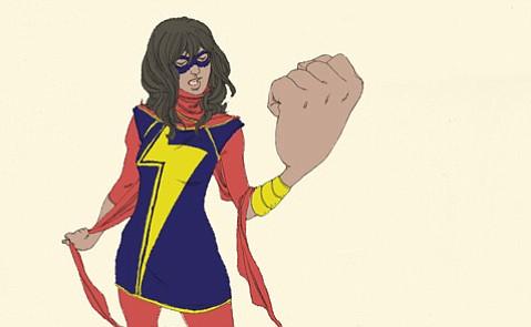 Muslim teen superhero Ms. Marvel.