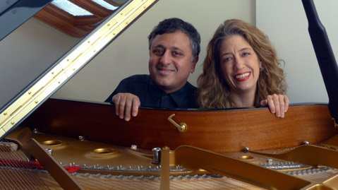 <b>BETTER TOGETHER:</b>  Hubby and wife Gavin and Joanne Pearce Martin team up on the piano for Franz Shubert's Fantasie on December 5 at the Music Academy of the West.