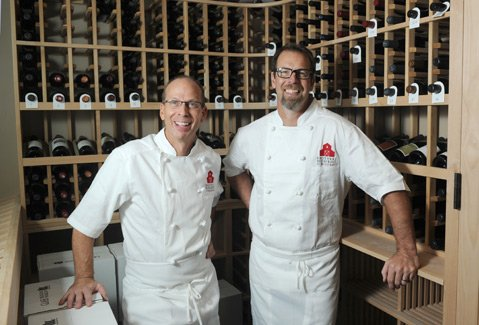 <b>BROMANCE: </b> Jeff (left) and Matt Nichols have opened for business, again, at their latest Brothers Restaurant at the Red Barn.