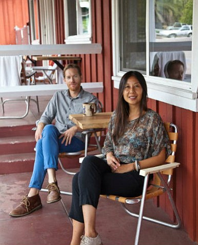 Proprietors Chris Sewell (left) and Kenny Osehan will host the fourth annual Deck the Halls holiday pop-up mall at the Ojai Rancho Inn on Saturday, December 7 from 3 to 10 p.m.