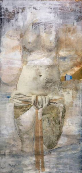 Mary Heebner 's <em>Venus I (Moon... she shines on the Earth... silvery)</em>, 2013