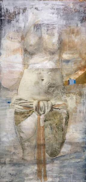 Mary Heebner 's <em>Venus I (Moon... she shines on the Earth... silvery)</em>, 2013