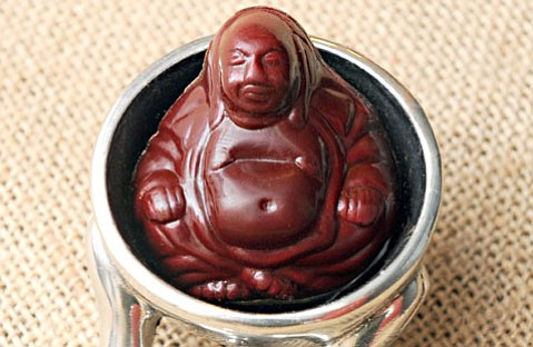 <b>SWEET NIRVANA:</b>  S.B.'s French chocolatier Chocolats du CaliBressan offers chocolates filled with salted caramel in the shape of Buddha.