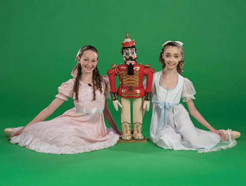 <b>DOUBLE VISION:</b> Sarah Block (left) and Lola Crist share the role of Clara in State Street Ballet's The Nutcracker.
