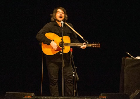 <b>FLYING SOLO:</b>  Wilco's Jeff Tweedy proved himself to be an affable jokester during his solo show last Friday at the Granada Theatre.