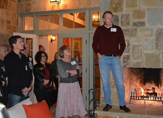 Trek president John Burke (right) speaks as People for Bikes staffer Martha Roskowski and Santa Barbara Mayor Helene Schneider look on