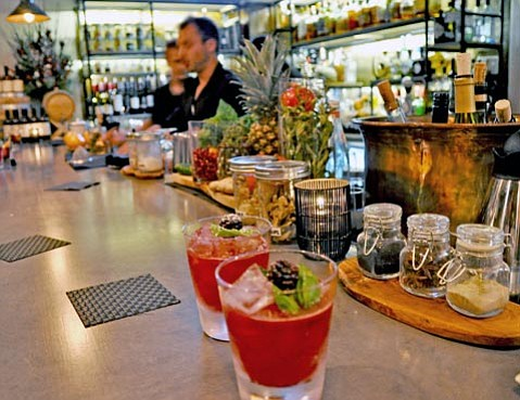 <b>OLD WORLD, OLD PALS:</b> Chef Luca Crestanelli and mixologist Alberto Battaglini team up to deliver authentic Italian cuisine and inventive drinks at the new S.Y. Kitchen.