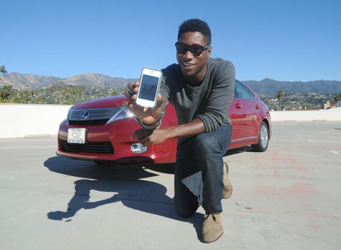 <b>REVVING UP:</b>  Andy Iro is the community manager for the taxi-hailing smartphone app Uber, which launched two months ago in Santa Barbara.