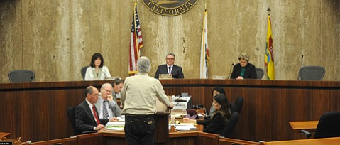 <b>DIVIDED:</b>  South County supervisors Janet Wolf, Salud Carbajal, and Doreen Farr made all the decisions Monday on the proposed oil tax, as their colleagues, Peter Adam and Steve Lavagnino—who both teleconferenced into the meeting—made their opposition known early.
