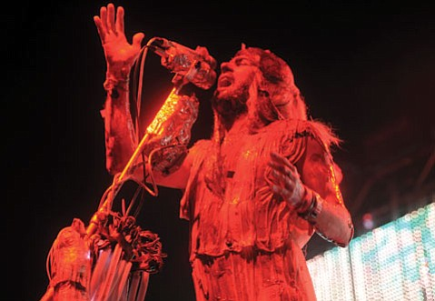 <b>A BLOODY GOOD TIME:</b> The Flaming Lips's Wayne Coyne got his freak on during October's Blood Bath show at the S.B. Bowl.