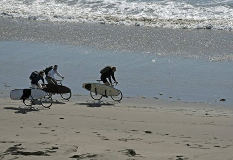 Along asphalt bike paths or sandy beaches, a bicycle can get you there.