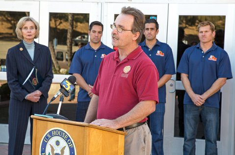 Chris Mahon, representative for the CA Professional Firefighters