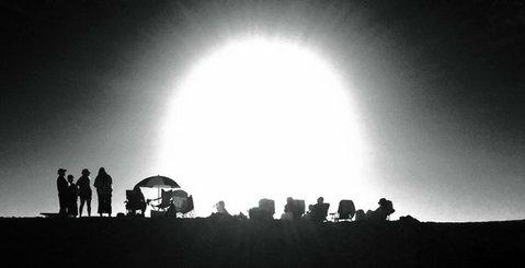 The sun sets on a Carpinteria beach (12/29/2013)