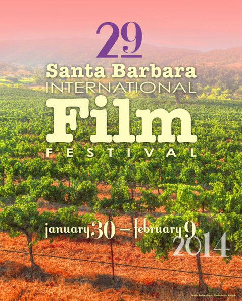 The 2014 Santa Barbara International Film Festival poster, designed by artist Barbara Boros