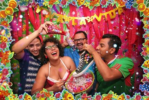 "<b>FIESTA, FIESTA:</b> Los Angeles' La Santa Cecilia is (from left) Alex Bendaña, La Marisoul, Miguel Ramírez, and José ""Pepe"" Carlos. The Grammy-nominated act comes to Santa Barbara for a series of free, all-ages shows starting January 10."