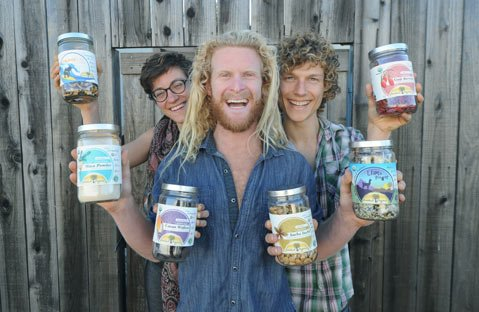 "<b>HEALTHY & HAPPY:</b> The Imlak'esh Organics team of (from left) Carrisa Hayes, Tucker Garrison, and Philip Richardson are importing South American foods and supporting ""eco-social"" causes."